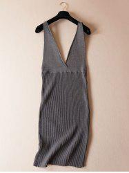 Stretchy Textured Knitted Dress -