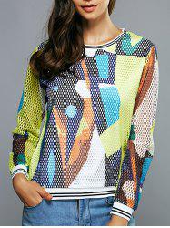 Colorful Mesh Blouse -