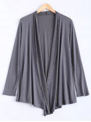Long Sleeve Open Cardigan - GRAY