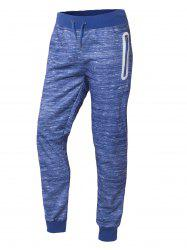 Drawstring Waist Zipper Pocket Jogger Pants -