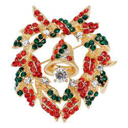 Cloche Broche Couronne de Noël -