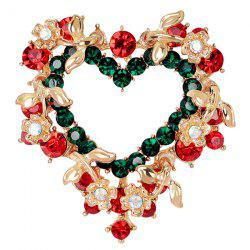 Heart Wreath Brooch