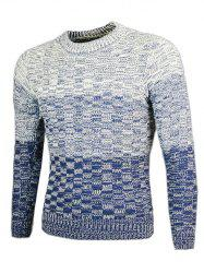 Knit Blends Ombre col rond manches longues Pull -