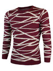 Irregular Linellae col rond manches longues Pull -