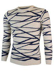 Irregular Linellae Round Neck Long Sleeve Sweater