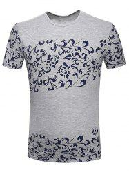 Round Neck Floral Printed T-Shirt