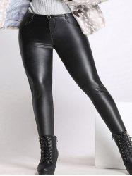 Plus Size Skinny Faux Leather Pants