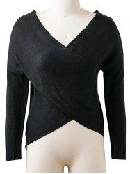 V Neck Long Sleeve Convertible Sweater -