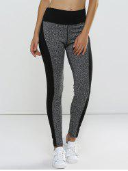 Leggings taille haute super tendu a double couleur  - Gris