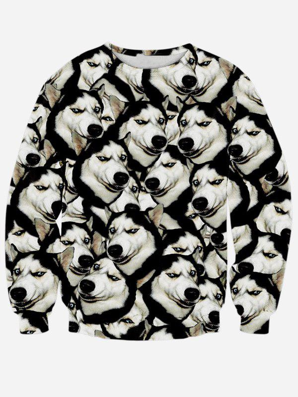 Long Sleeve Round Neck 3D Animal Print SweatshirtMEN<br><br>Size: M; Color: BLACK; Material: Polyester; Shirt Length: Regular; Sleeve Length: Full; Style: Casual; Weight: 0.353kg; Package Contents: 1 x Sweatshirt;