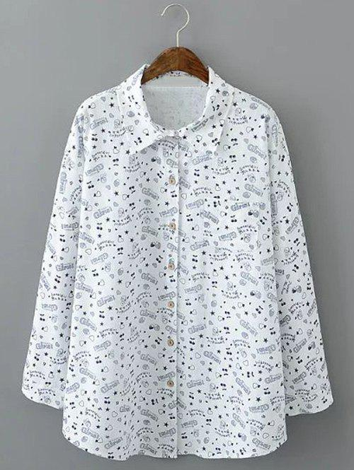 Hot Loose-Fitting Star Print Shirt