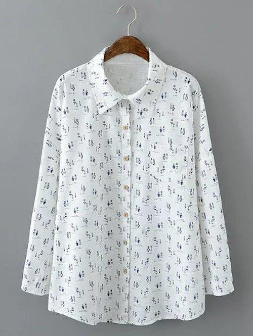 Sale Loose-Fitting Bottle Print Shirt