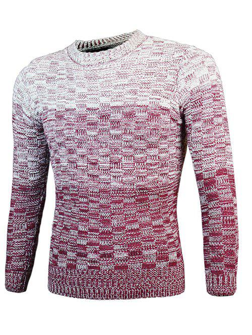 Knit Blends Ombre col rond manches longues Pull
