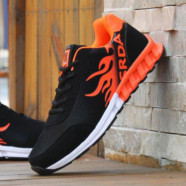 Outfits Breathable Tie Up Colour Block Athletic Shoes