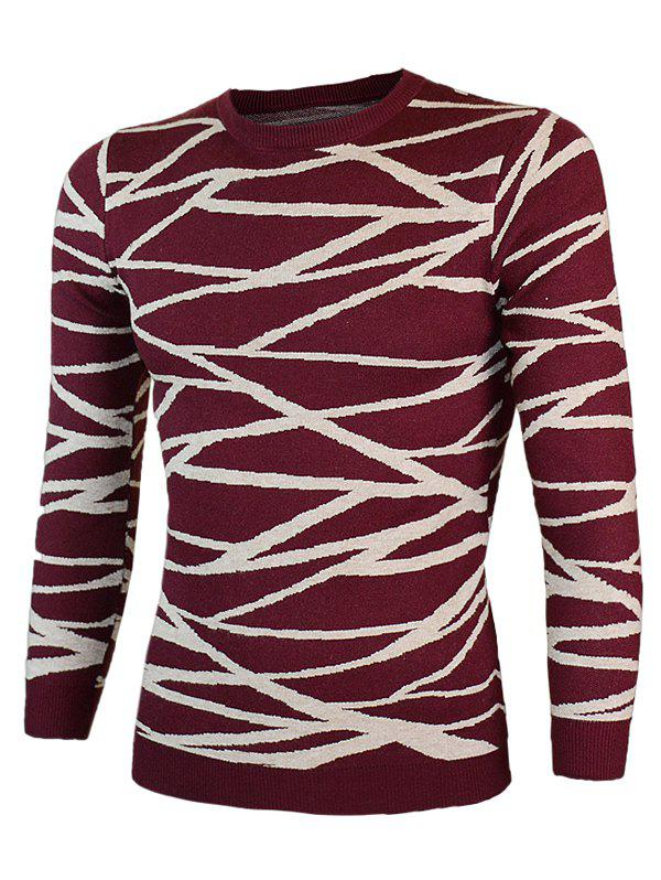 Irregular Linellae col rond manches longues Pull