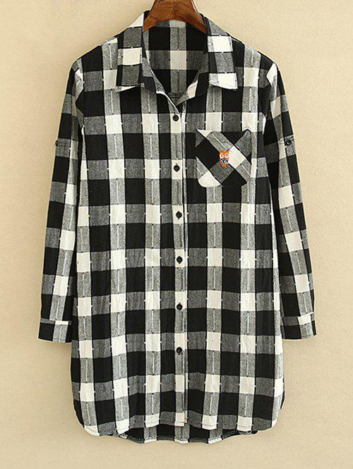 Online Checked Hemming Sleeves Shirt