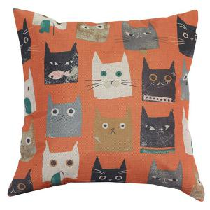 Hot Sale Cartoon Yellow Cats Sofa Bed Pillow Case - Colormix - L