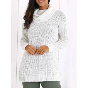 Turtleneck Textured Long Sleeve Sweater