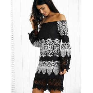 Off-The-Shoulder Laciness Paisley Casual Dress -