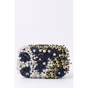 Beading Rhinestone Faux Pear Evening Bag