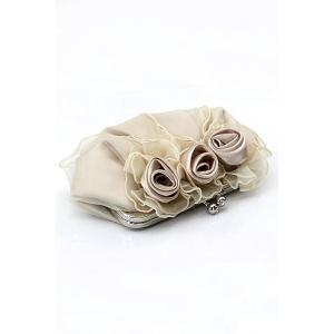 Satin Flowers Lace Evening Clutches -