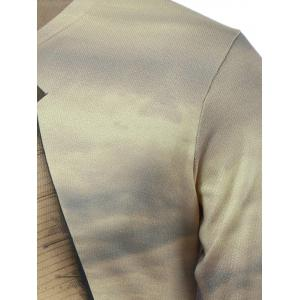 3D Sailing Print V-Neck Long Sleeve Sweater - COLORMIX 3XL