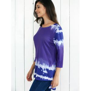 Tie-Dye High Low Hem Blouse -