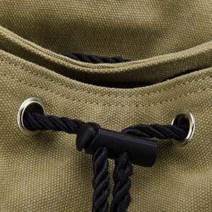 Drawstring Snap Canvas Backpack -