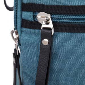 Zippers Canvas Colour Block Backpack -
