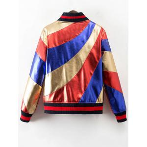 Stand Neck Color Block Bomber Jacket -
