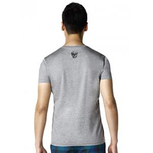 Brief Style V-Neck Skull Printed T-Shirt ODM Designer - GRAY 3XL