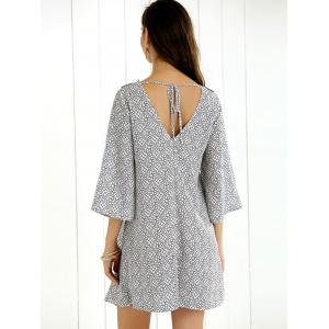 Flare Sleeve Tie Back Dress -