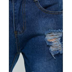 Broken Hole Pocket Design Jeans -