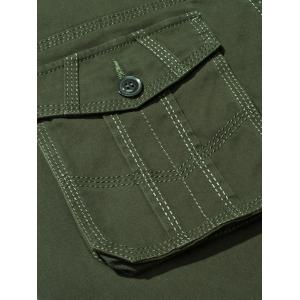 Plus Size Zipper Fly Button Flap Pockets Design Cargo Pants - ARMY GREEN 40