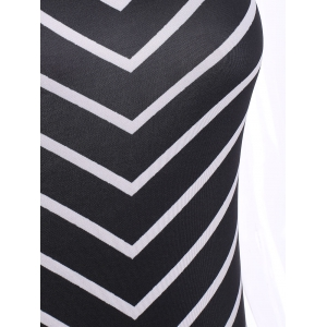 Zigzag Sleeveless Maxi Dress -