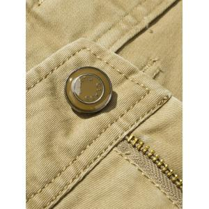 Plus Size Zipper Fly Flap Pockets Design Cargo Pants -