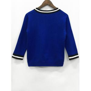 Long Sleeve Patchwork Knitwear -