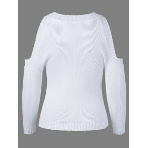 Jewel Neck Long Sleeve Hollow Out Knitwear -