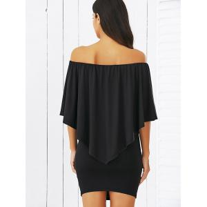 Overlay Off-The-Shoulder Bodycon Mini Dress -