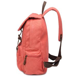 Double Buckle Magnetic Closure Metal Backpack -