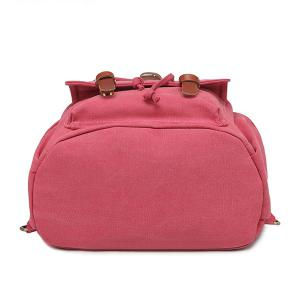 Drawstring Buckles Canvas Backpack -