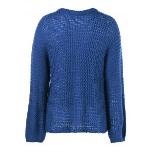 Crochet Long Sleeve Round Neck Knitwear -