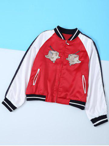 Fancy Hamburg Appliques Long Sleeve Jacket