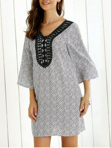 Sale Flare Sleeve Tie Back Dress