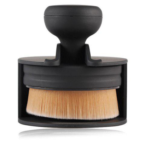 Unique Stamper Shape Nylon Foundation Brush BLACK