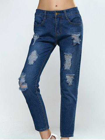 Store Broken Hole Pocket Design Jeans
