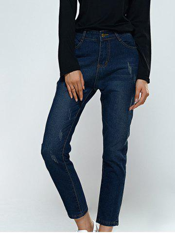 Outfit Scratch Pocket Design Jeans