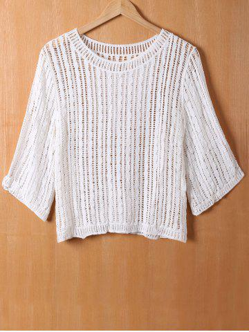 Fashion Loose Crochet Openwork Blouse