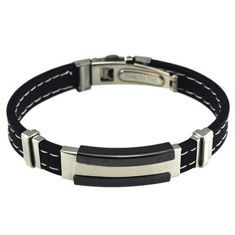 Chic Adjustable Stitching Rubber Bracelet