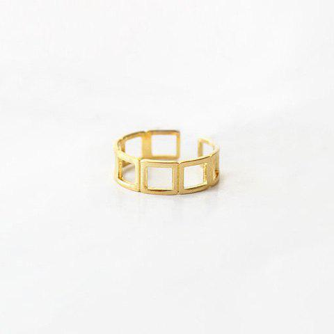 Fancy Geometric Caged Ring